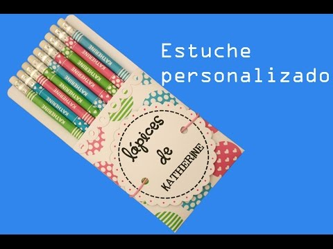 👉 ESTUCHE SCRAPBOOK para lápices personalizados (DESCARGA GRATIS) [2021]