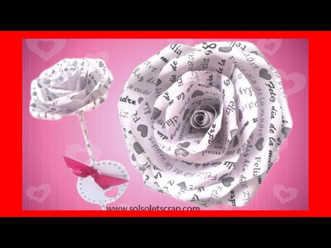 🌹 【ROSA de PAPEL】personalizada FÁCIL - FLOR Ideal para REGALAR el DÍA de la MADRE. [2021] ❤️