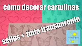 video-tutorial dónde vamos a decorar una cartulina básica de color blanca.
