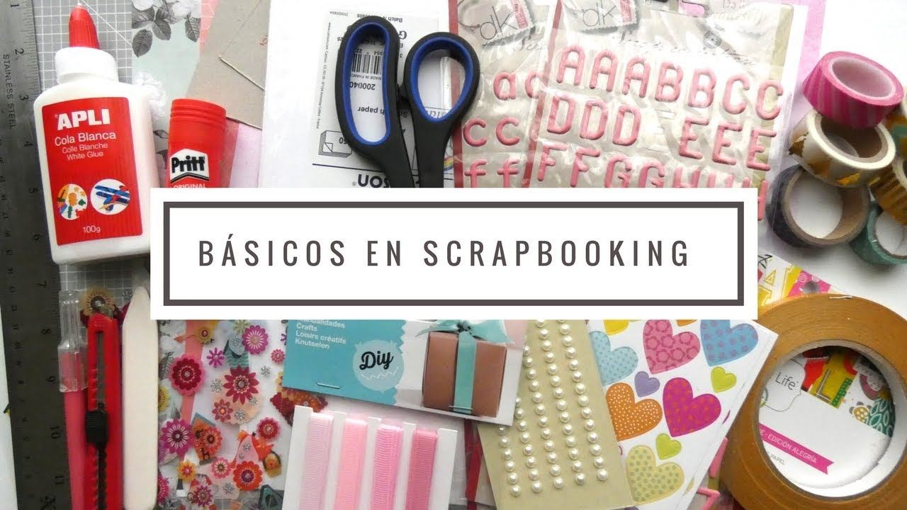 materiales básicos imprescindibles scrapbooking