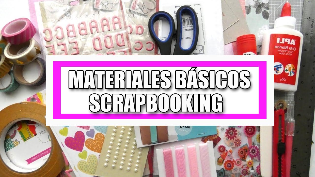 materiales básicos scrapbooking